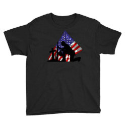 Memorial Day Soldier Youth Tee Designed By Akin