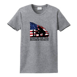 Home Of The Free Because Of The Brave Ladies Classic T-shirt Designed By Akin