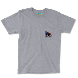 Home Of The Free Because Of The Brave Pocket T-shirt Designed By Akin
