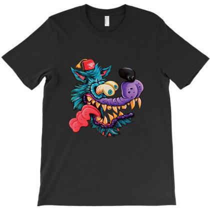 Weirdo Wolf T-shirt Designed By Grider