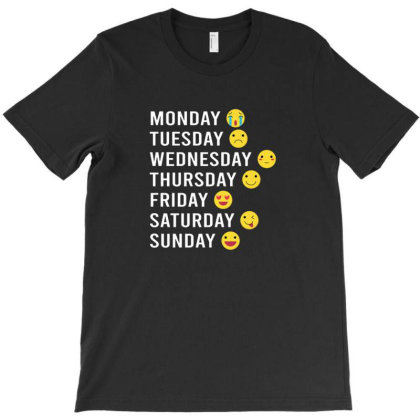 Day Characters Emoticon T-shirt Designed By Kansern