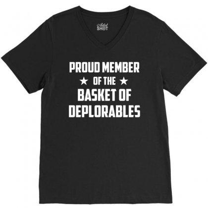 Proud Member Of The Basket Deplorables V-neck Tee Designed By Gringo