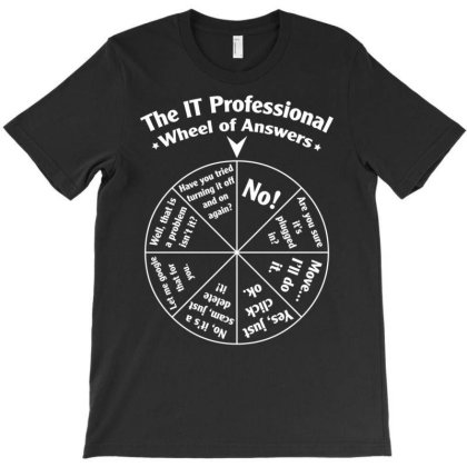 The It Professional Wheel Of Answers. Essential T Shirt T-shirt Designed By Hi313