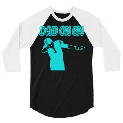 Cam Newton Carolina Panthers Dab On Em 3/4 Sleeve Shirt Designed By Mdk Art