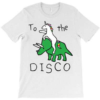 To The Dis.co (  Riding Triceratops) Classic T Shirt T-shirt Designed By Wened313