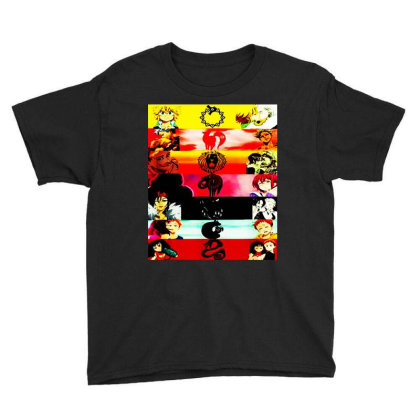 Deadly Sins Tees Graphics Youth Tee Designed By Suettan