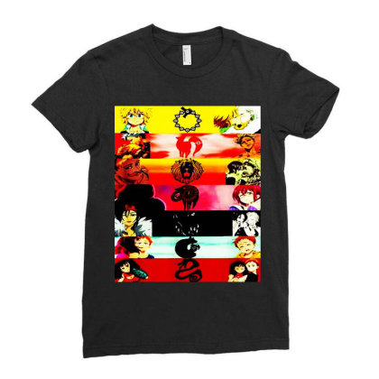 Deadly Sins Tees Graphics Ladies Fitted T-shirt Designed By Suettan