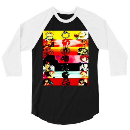 Deadly Sins Tees Graphics 3/4 Sleeve Shirt Designed By Suettan