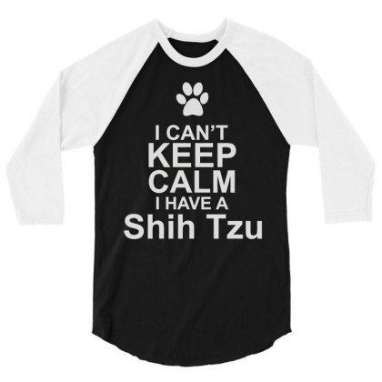 Pets Shih Tzu 3/4 Sleeve Shirt Designed By Mir Art
