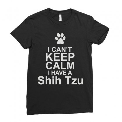 Pets Shih Tzu Ladies Fitted T-shirt Designed By Mir Art