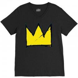 Basquiat crown V-Neck Tee   Artistshot