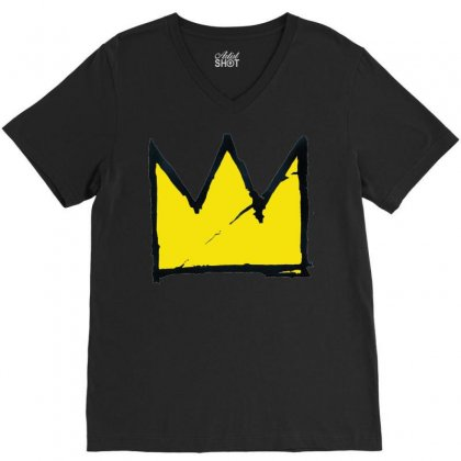 Basquiat Crown V-neck Tee Designed By Benny