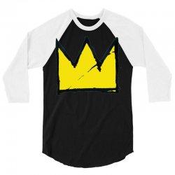 Basquiat crown 3/4 Sleeve Shirt   Artistshot