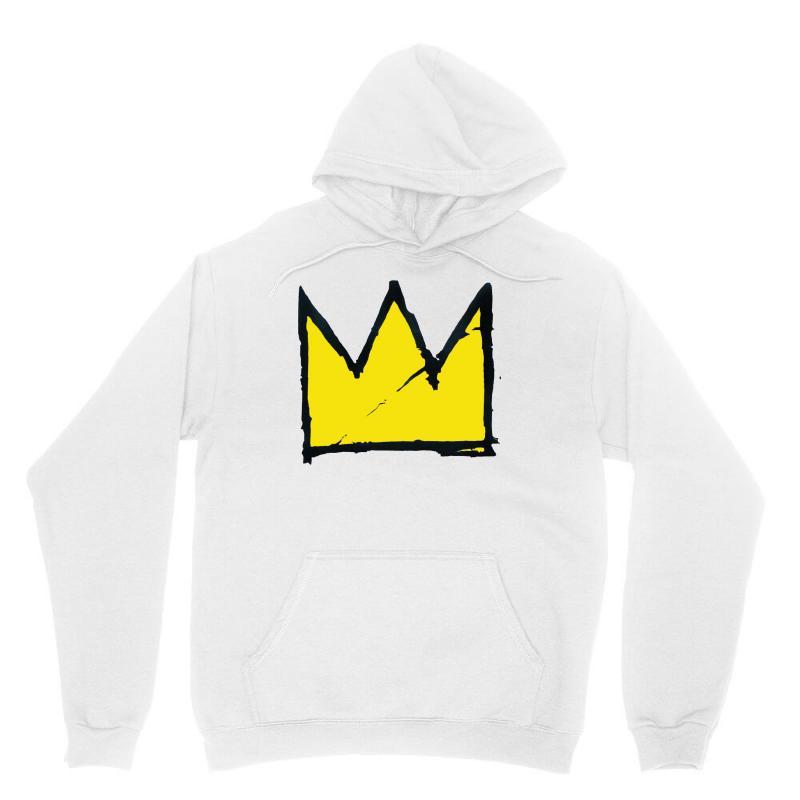 Basquiat Crown Unisex Hoodie   Artistshot