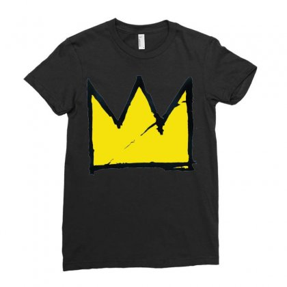 Basquiat Crown Ladies Fitted T-shirt Designed By Benny