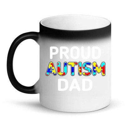 Mens Unique Proud Autism Dad Colored Puzzle Magic Mug Designed By Suettan