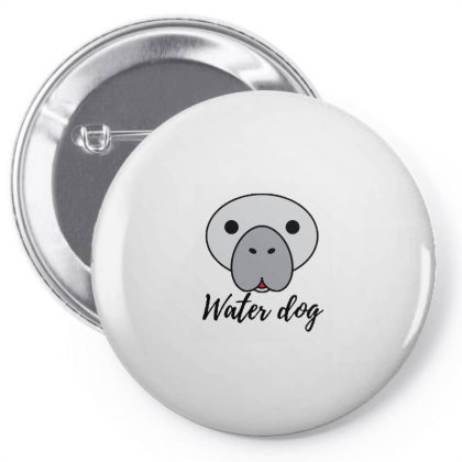 Manatee Water Dog Pin-back Button Designed By Joe Art