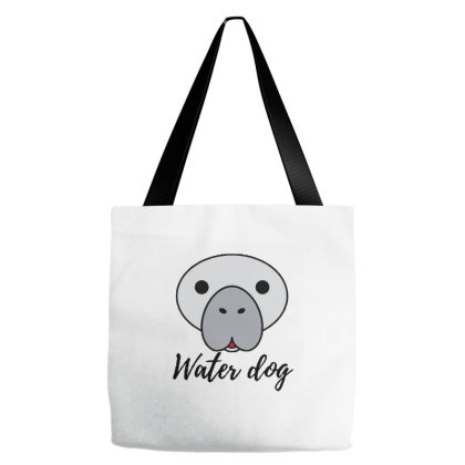 Manatee Water Dog Tote Bags Designed By Joe Art