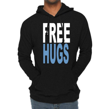 Funny T Shirts Free Hugs Adult Lightweight Hoodie Designed By Wanzinx