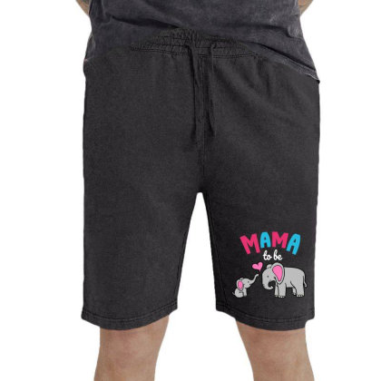 Mama To Be Mom Baby Elephant Animal Lover Vintage Short Designed By Suettan