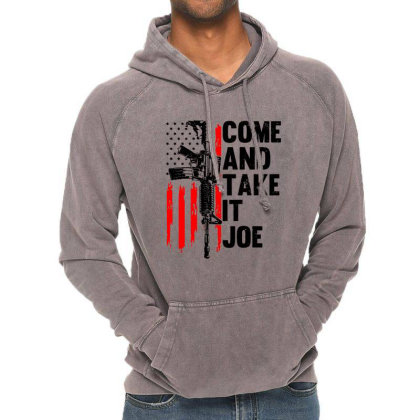 Men Come And Take It Joe Gun Rights Vintage Hoodie Designed By Suettan