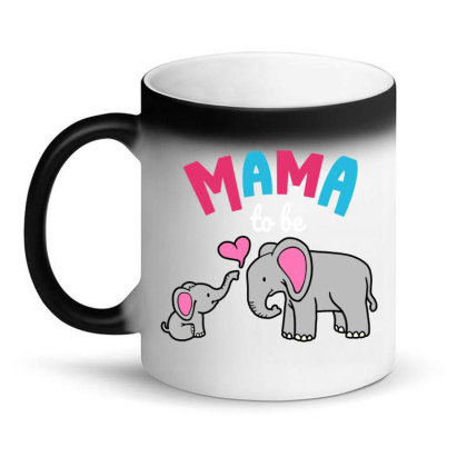 Mama To Be Mom Baby Elephant Animal Lover Magic Mug Designed By Suettan