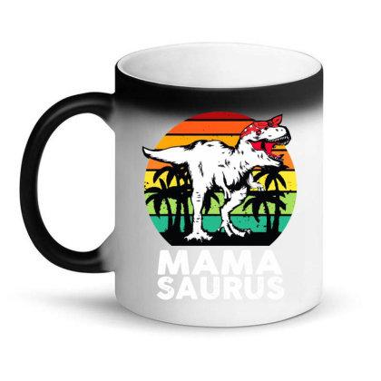 Mamasaurus Funny T Rex Dinosaur Mama Saurus Magic Mug Designed By Suettan
