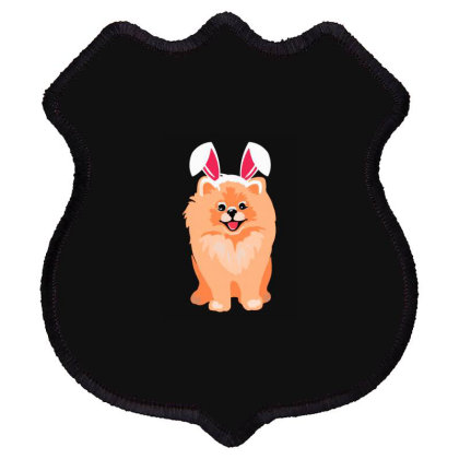 Cute Pomeranian Shield Patch Designed By Romeo And Juliet