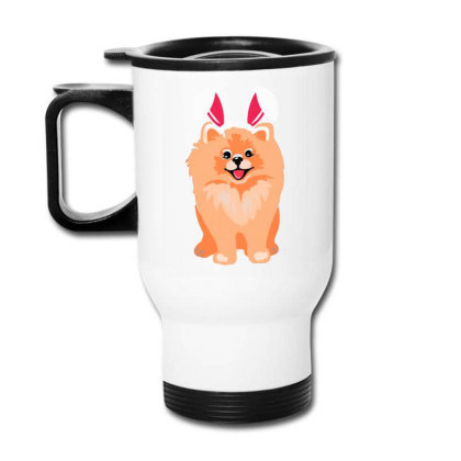 Cute Pomeranian Travel Mug Designed By Romeo And Juliet
