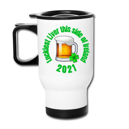 Luckiest Liver Travel Mug Designed By Joe Art