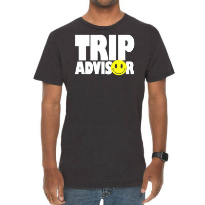 Funny Trip Advisor, Ideal Gift, Birthday Present Vintage T-shirt Designed By Wanzinx