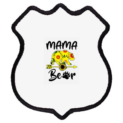 Mama Bear Sunflower Gift Funny Mothers Shield Patch Designed By Suettan