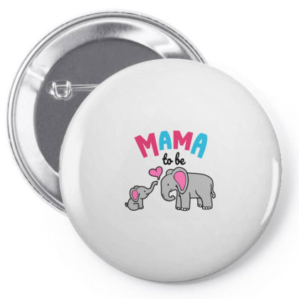Mama To Be Mom Baby Elephant Animal Lover Pin-back Button Designed By Suettan