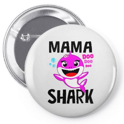 Mama Shark Doo Doo Shirt Pin-back Button Designed By Suettan