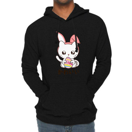 Cute Kitten Happy Lightweight Hoodie Designed By Romeo And Juliet