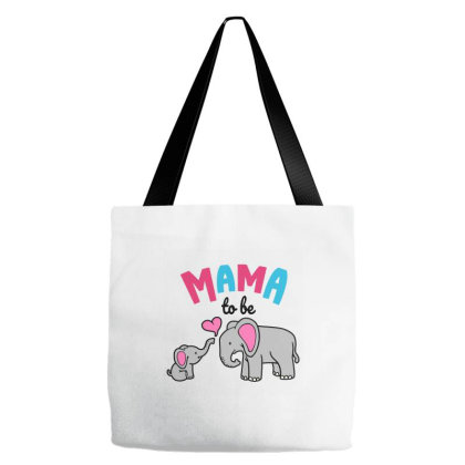Mama To Be Mom Baby Elephant Animal Lover Tote Bags Designed By Suettan