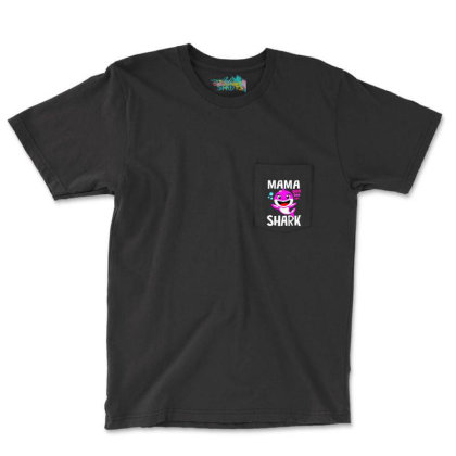 Mama Shark Doo Doo Shirt Pocket T-shirt Designed By Suettan