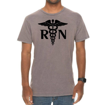 Lovely Rn Registered Nurse Tie Vintage T-shirt Designed By Joe Art