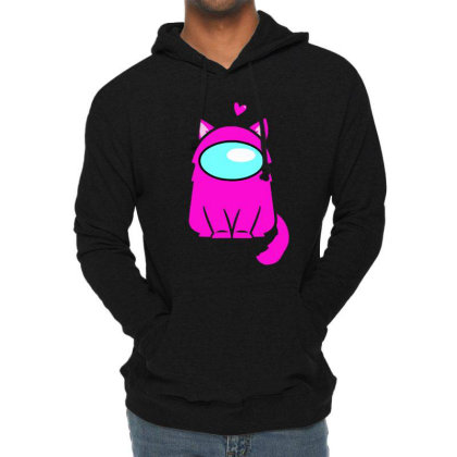 Cute Cat Astronaut Lightweight Hoodie Designed By Romeo And Juliet