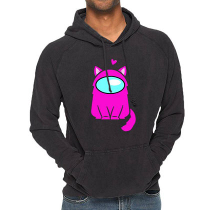 Cute Cat Astronaut Vintage Hoodie Designed By Romeo And Juliet
