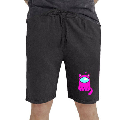 Cute Cat Astronaut Vintage Short Designed By Romeo And Juliet