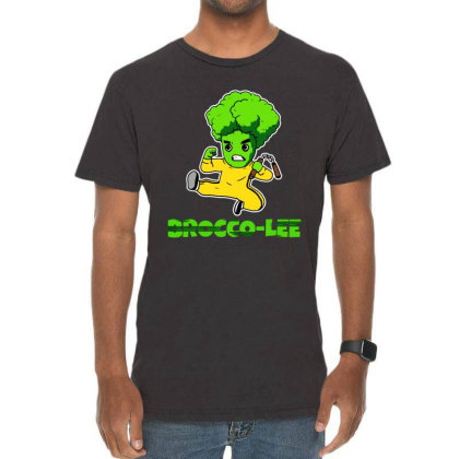 Lustiges Kung Fu Karate Broccoli Vintage T-shirt Designed By Suettan