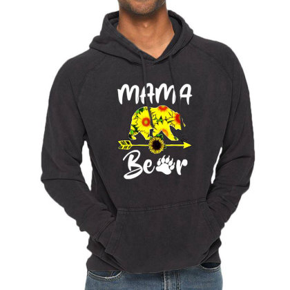 Mama Bear Sunflower Gift Funny Mothers Vintage Hoodie Designed By Suettan
