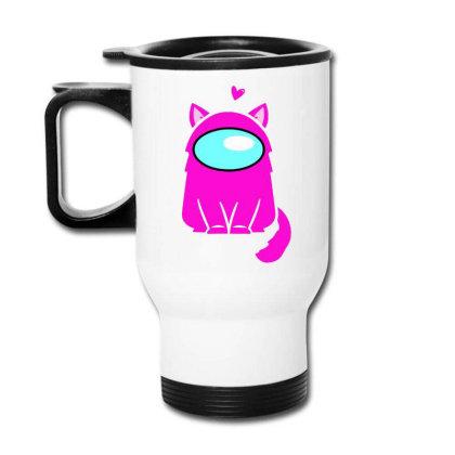 Cute Cat Astronaut Travel Mug Designed By Romeo And Juliet