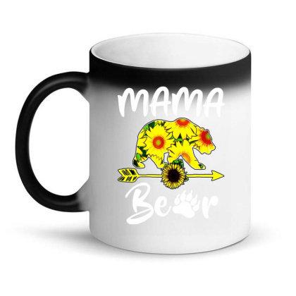 Mama Bear Sunflower Gift Funny Mothers Magic Mug Designed By Suettan