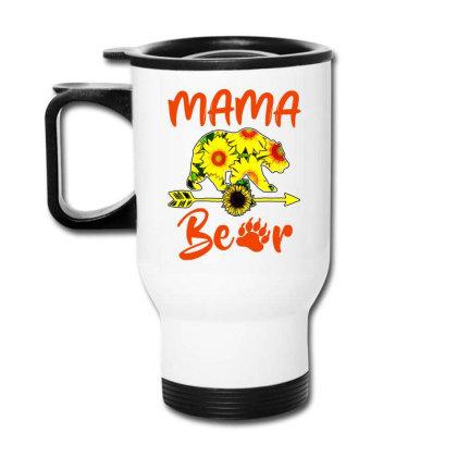 Mama Bear Sunflower Gift Funny Mothers Travel Mug Designed By Suettan