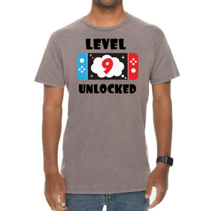 Level 9 Unlocked Vintage T-shirt Designed By Joe Art