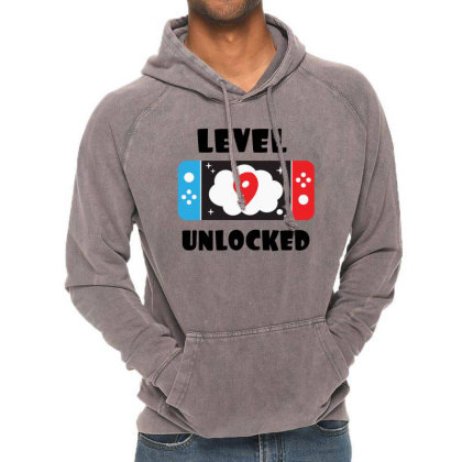 Level 9 Unlocked Vintage Hoodie Designed By Joe Art