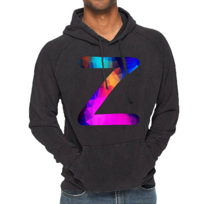 Letter Z Capital Alphabet Vintage Hoodie Designed By Joe Art