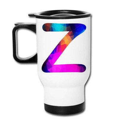 Letter Z Capital Alphabet Travel Mug Designed By Joe Art